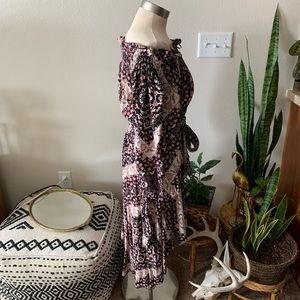 Olivaceous Dresses - NWOT VICI floral off the shoulder dress